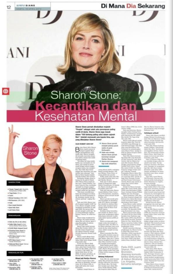 Sharon Stone: Kecantikan dan Kesehatan Mental
