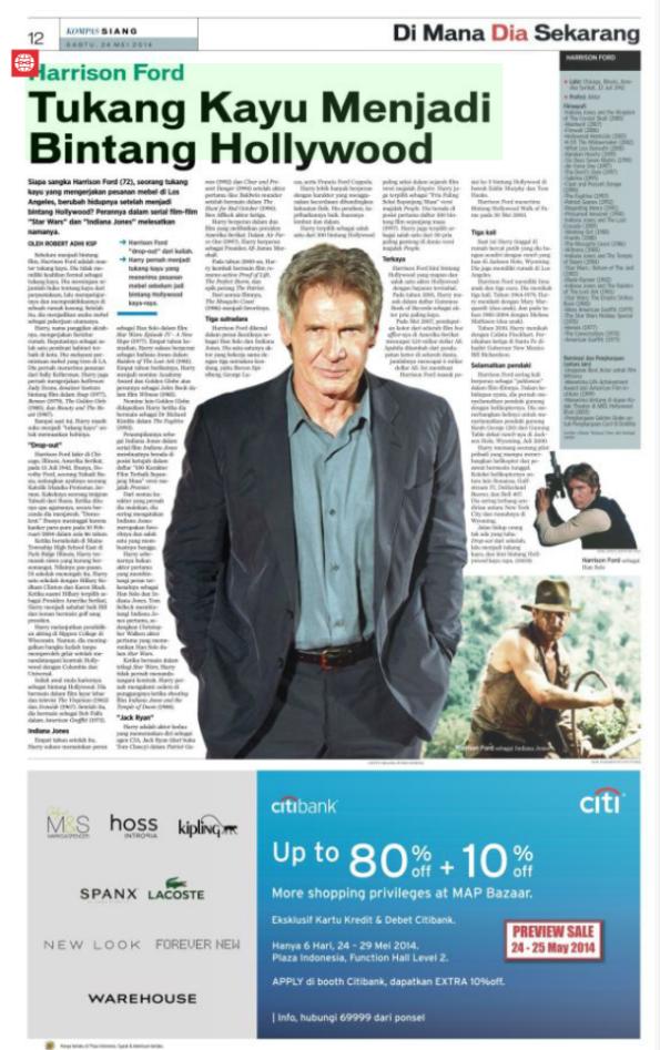 Harrison Ford, Tukang Kayu Menjadi Bintang Hollywood