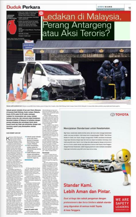 Ledakan di Malaysia