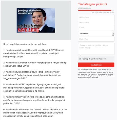 Petisi Online Change org DukungAhok