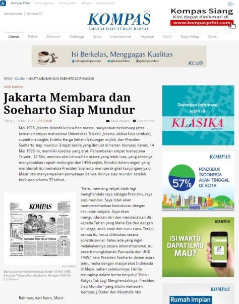 Arsip Kompas Jakarta Membara