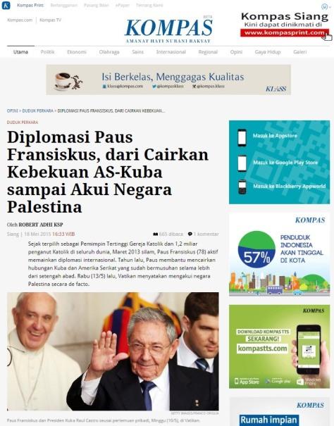 Diplomasi Paus Fransiskus