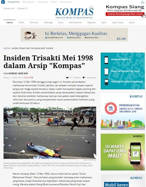 Insiden Trisakti Mei 1998
