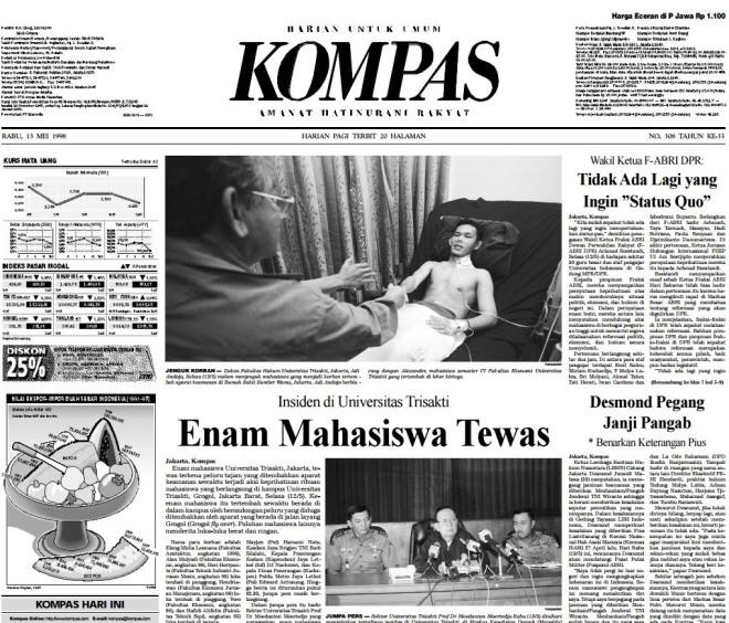 Kompas 13 Mei 1998