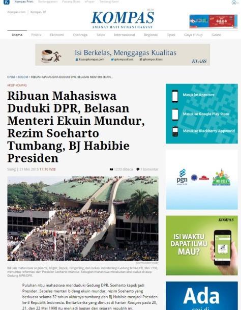 Soeharto Tumbang