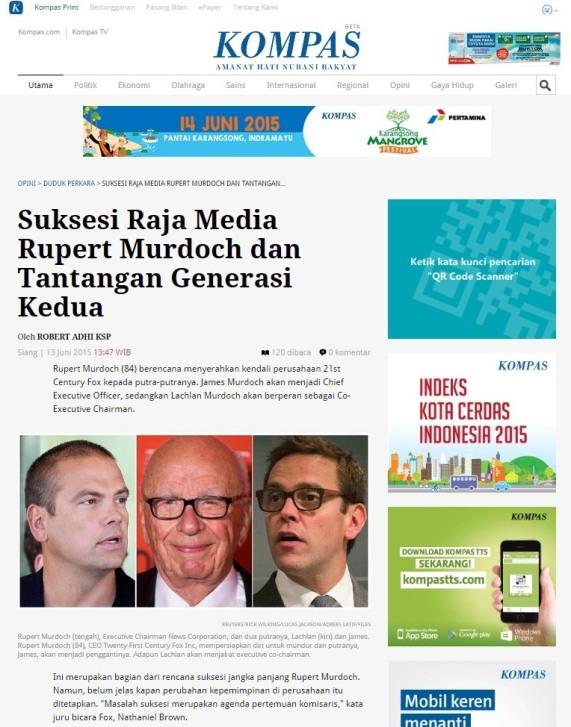 Rupert Murdoch 130615