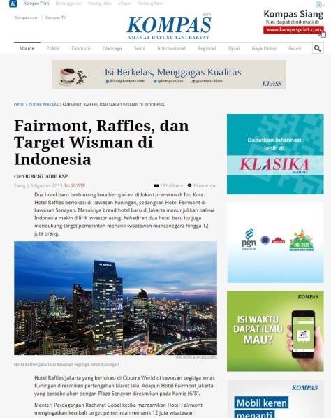 Fairmont dan Raffles